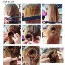 1pc Useful Hair Updo Wrap Fold Snap Bun Maker Hair Magic Styling Tool HC