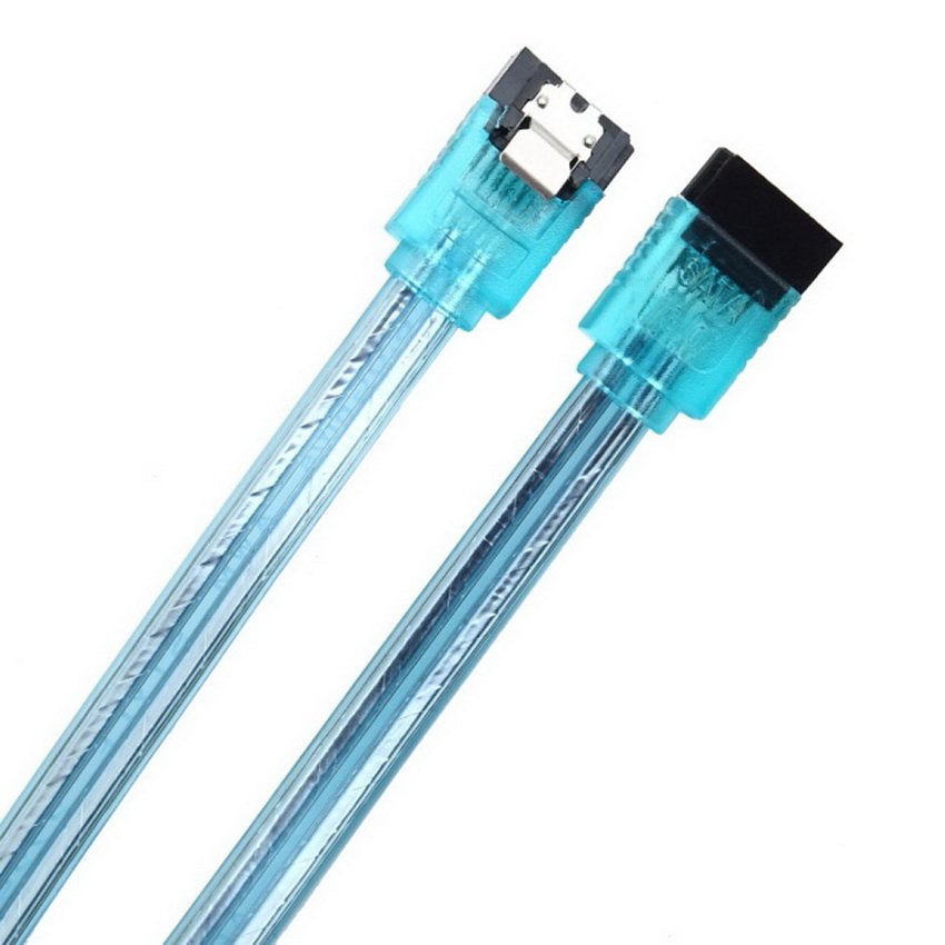 High Speed 20in 50CM SATA 3.0 III High Speed HDD Data Cable Cord PC Drive HC