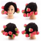 12xStrawberry Balls Hair Care Soft Sponge Rollers Curlers Lovely DIY Tool HC