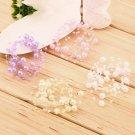 Elegant Bridal Faux Pearl Chain Studded Wedding Tiara Headpiece Headdress HC