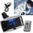 Bluetooth Car Kit MP3 Player FM Transmitter Hands Free Phone SD/USB + Remote HC