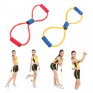 Resistance Band Yoga Pilates Abs Exercise Stretch Fitness Tube Workout Bands HC