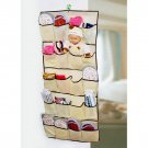 20 Pockets Over Door Cloth Shoe Organizer Hanging Hanger Closet Space Storage HC