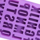 Silicone Letter Alphabet Pudding Bakeware Mould Cake Chocolate Ice Maker Mold HC