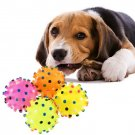 Pet Dog Puppy Cat Animal Toy Rubber Ball With Sound Squeaker Chewing Ball HC