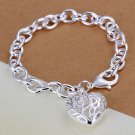 Exquisite Hollow Heart Pendant Charm Heart Bangle Bracelet Chain HC