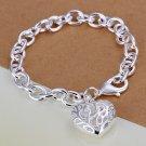 Exquisite Hollow Heart Pendant Charm Heart Bangle Bracelet Chain HC
