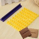Fondant Cake Alphabet Letter Number Cookies Biscuit Stamp Embosser Mold HC