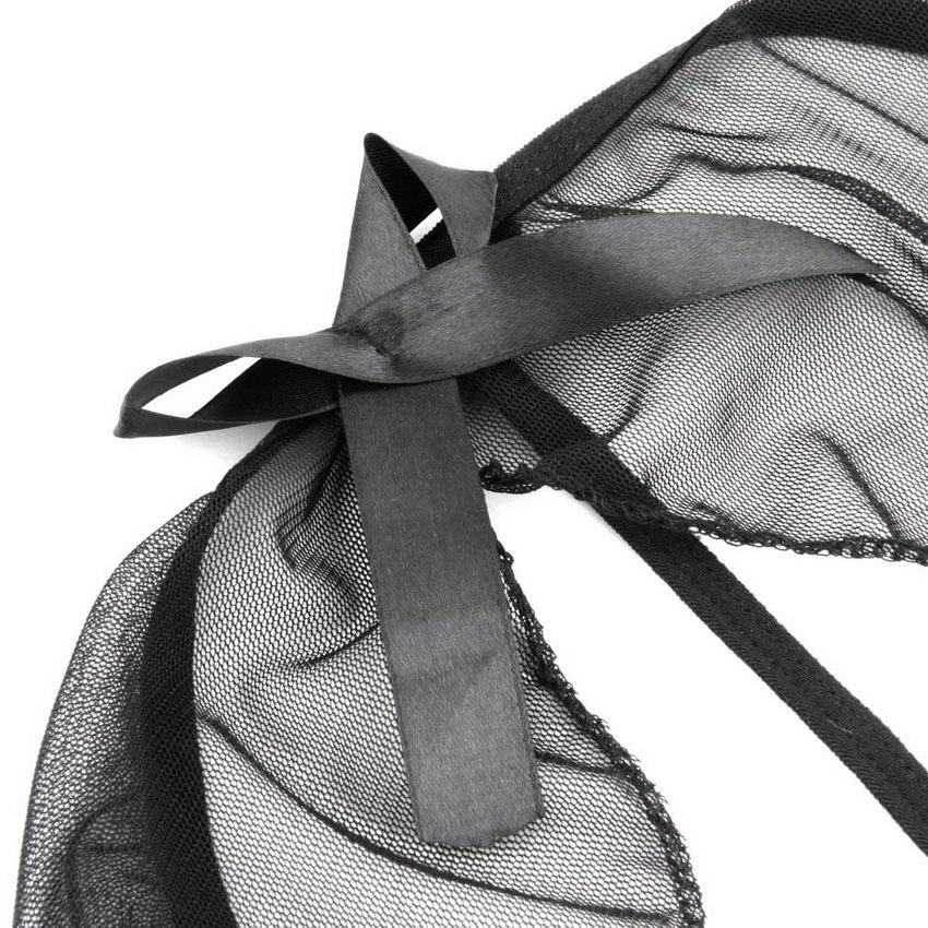 Women Lace Lingerie Babydoll Sleepwear Underwear Sheer Naughty Maid Costume HC