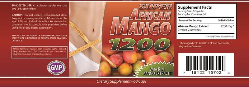 AFRICAN MANGO 1200mg WEIGHT LOSS DIET PILLS