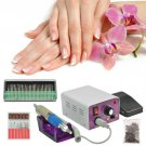 30000RPM Electric Nail Art Drill File Manicure Polish Machine 6 Grinding Head HC