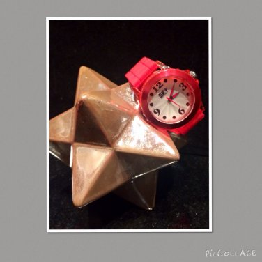 Red Analogue Watch
