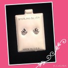 """GrowingFlower"" Silver stud earrings"