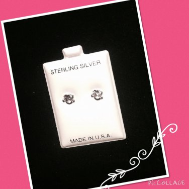 """Rocking Heart"" Silver stud earrings"