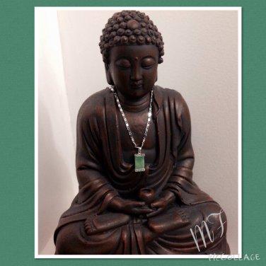 """""""Greek""""design Jade silver necklace set"""