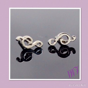"""Musical note"" stainless steel stud"