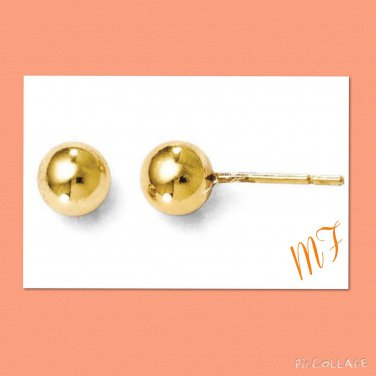 """Gold tone"" Ball Stainless Steel stud"