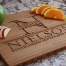 Personalized Cutting Board 11x14 Bamboo - Nielson Style