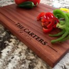 Personalized Beautiful Large Mahogany Cutting Board - Carter Style