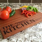 Personalized Beautiful Large Mahogany Cutting Board - Fletcher Style