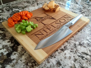 Personalized Cutting Board 11 x 14 Bamboo � Nielson Style