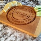 Personalized Cutting Bar Board 6 x 8 Bamboo - Jenson Style