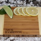 "Personalized Cutting Board 6x8 (3/4"" thick) - Hamilton Style"