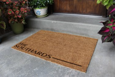 """Personalized Door Mat - """"Southard"""" Style"""