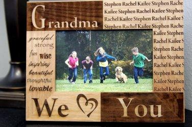 Personalized Mom/Grandma/Nana Photo Frames