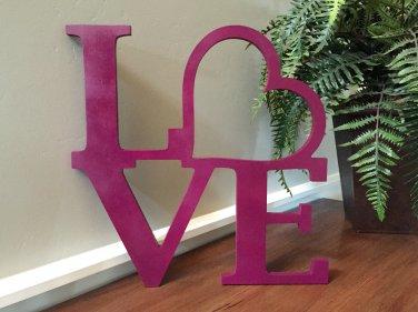 Love Wooden Monogram