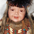 "Porcelain Indian Doll 22"" Tall Dyami Is Name  Limited Edition BOXED"