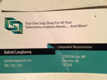 Gabriel Langboung - Telecom Services - Indep. Rep. - Edmonton, Alberta Canada