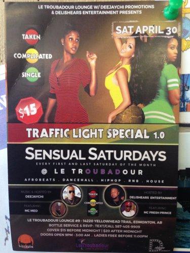 Sat. 30th April, 2o16 - Sensual Saturdays - Edmonton, Alberta Canada