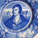 ROBERT BURNS VINTAGE ROYAL DOULTON PLATE BLUE WHITE WARE PLATE D3392
