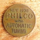 VINTAGE RADIO TOKEN BRONZE ADVERTISING COIN
