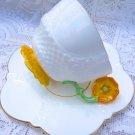 AYNSLEY TEA CUP FLOWER HANDLE CUP & SAUCER AYNSLEY TEACUP & SAUCER