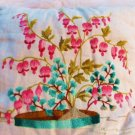 VINTAGE PILLOW EMBROIDERY PILLOW BLEEDING HEARTS