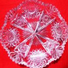 AMERICAN BRILLIANT GLASS RELISH DISH ABP GLASS