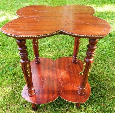 ANTIQUE MAHOGANY TABLE VINTAGE ADAMS MAHOGANY PARLOR TABLE