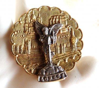 LONDON MONARCHY MONUMENT BROOCH VINTAGE COMMEMORATIVE BROOCH SOUVENIR PIN