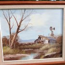 VINTAGE OIL PAINTING RAY NORMAN LANDSCAPE CANVAS OIL PAINTING
