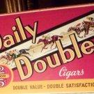VINTAGE CIGAR BOX DAILY DOUBLE JOCKEY HORSE EQUESTRIAN ADVERTISING TOBACCIANA