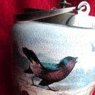 VICTORIAN COOKIE JAR VINTAGE COOKIE JAR AUDUBON BIRD