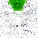 VERSACE CRYSTAL STOPPER MEDUSA ROSENTHAL CRYSTAL VERSACE GREEN WINE STOPPER