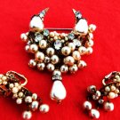 MIRIAM HASKELL JEWELRY BROOCH EARRINGS