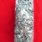 NOUVEAU VANITY BRUSH STERLING SILVER BRUSH REPOUSSE VANITY BRUSH