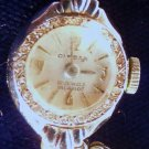 14KT WHITE GOLD LADIES WRIST WATCH 20 DIAMONDS SWISS