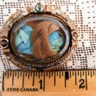 VICTORIAN MOURNING LOCKET SWIVEL MOURNING BROOCH  HAIR JEWELERY