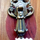 VICTORIAN DRAWER PULL IMPERIAL SHIELD DOOR HANDLE CABINET DOOR DROP PULL