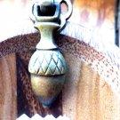 VINTAGE ACORN DOOR DROP PULL CAST ORNATE CABINET PULL BRASS ACORN